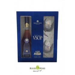 Gautier VSOP Cognac 70CL + 2 Glazen