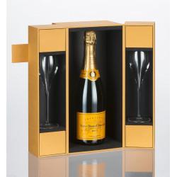 Veuve Cliqout Brut Champagne 75CL + 2 Flutes