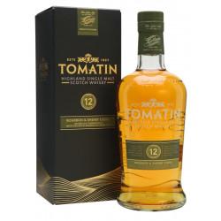 Tomatin 12 Years Bourbon & Sherry Casks Single Malt Whisky 70CL