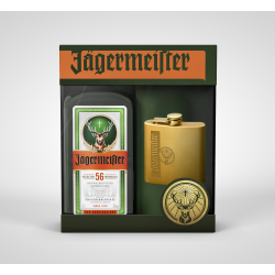 Jagermeister 70cl + Flask