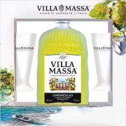 Villa Massa Limoncello 70cl + 2 Glazen