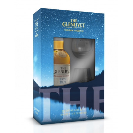 The Glenlivet Founder's Reserve Single Malt Whisky 70cl + 2 Glazen
