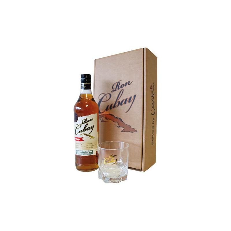 Ron Cubay Anejo Suave Rum 70cl + Glas