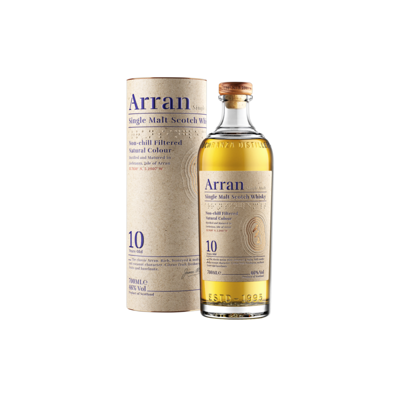 The Arran 10 Years Single malt Whisky 70CL