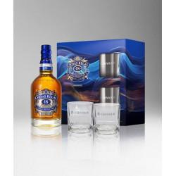 Chivas Regal 18 Years Whisky 70cl + 2 Glazen