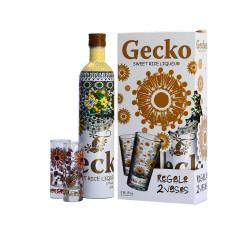 Gecko Sweet Rice Likeur 70cl + 2 Glazen