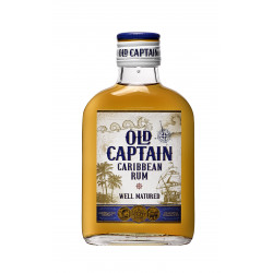 Old Captain Rum Bruin Zakflacon 20cl